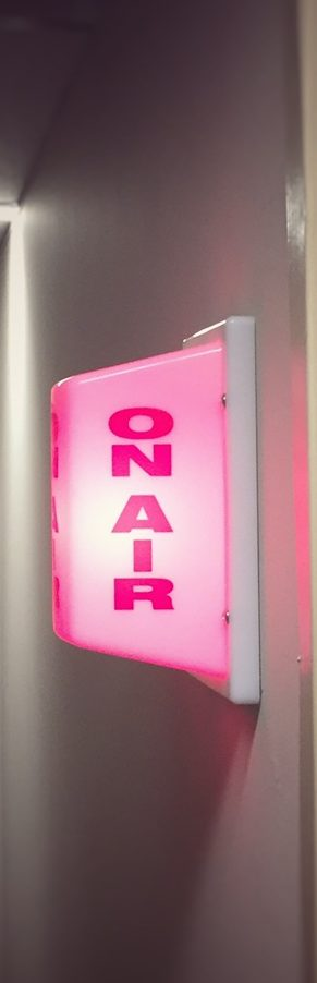 On Air sign on wall