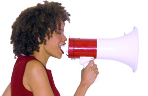 Lady with Megaphone