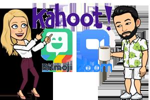 Kahoot, bitmoji, and zoom